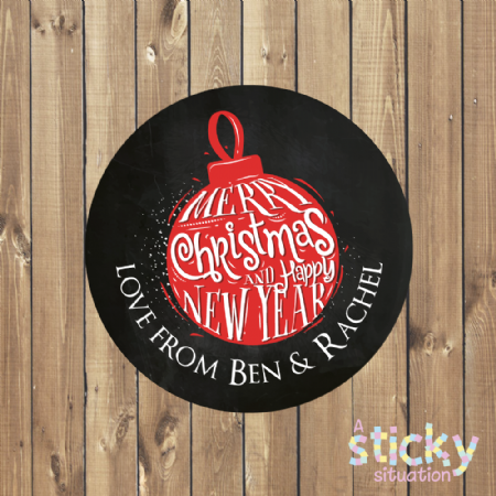 Personalised Christmas Gift Labels - Bauble Design